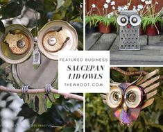 You are going to love to make your own Saucepan Lid Owls and they are a very easy DIY. We have lots of inspiration in our post and bike wheel Owls too. Garden Owl, Garden Whimsy, Garden Crafts, Owl Crafts, Diy And Crafts, Metal Art Projects, Craft Projects, Craft Ideas, Recycled Garden Art