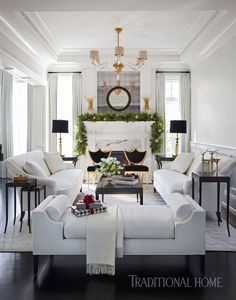 Holiday Home in Black and White | Traditional Home