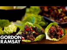 Chilli Beef Lettuce Wraps - Gordon Ramsay - YouTube