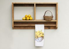 Recycled timber laundry organiser...clean up that laundry room!