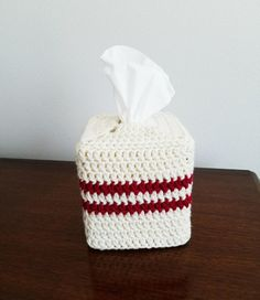 Crochet Tissue Box Cover, Various Colors by TampaBayCrochet on Etsy