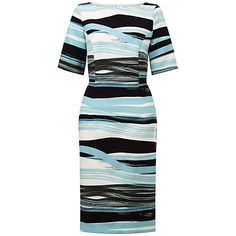 Fenn Wright Manson Petite Madrid Stripe Skirt, Blue. I could see this worn for the Spanish State visit in June 2017