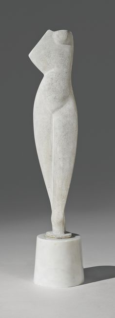 Alexander Archipenko 1887 - 1964, Flat Torso, Cast stone, Height 39.7 cm, conceived and cast circa 1914.