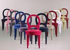 """Bilou Bilou"" chair by Romeo Sozzi for Promemoria. Stretched velvet, 2013."