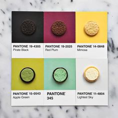 """3,794 Me gusta, 64 comentarios - lucy litman (@lucialitman) en Instagram: """"Because there can never be enough Oreo flavors. #pantoneposts"""""""