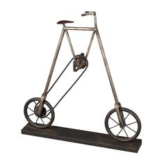 Bicycle Restoration Rusted Black / Silver Accessory 51-10004 Under $99 See more Home Decor products that are under $99 On our pinterest board here: https://www.pinterest.com/wegotlites/home-decor-under-99/ !!