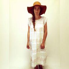 El Fin de Semana Dress // vintage cream boho midi by FenixVintage