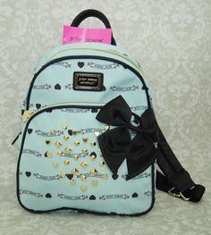 BETSEY JOHNSON Banner Stud Backpack Betseys Signature Mint/Blue **NWT** BR22890 in Clothing, Shoes & Accessories | eBay