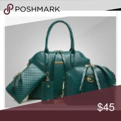 Purse Handbag Shoulder-bag Brand New. Green NEW 3 Piece Bags.  Include one large Handbag, one Shoulder-bag and one wallet. NO KEYCHAIN. Bags Shoulder Bags