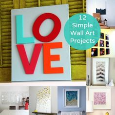 12 Amazingly Simple Wall Art Projects to Try