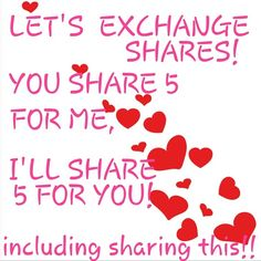 Let's exchange 5 shares! Thanks Coach Bags