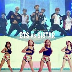 Who wins in this VS??? #BTS #SISTAR