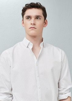 Smart Casual collection Slim-fit Cotton fabric Classic collar Long sleeve with buttoned cuffs Button fastening on the front section Mango Sale, Smart Casual, Printed Shirts, Cotton Fabric, Slim, Shirt Dress, Long Sleeve, Philippines, Fitness