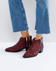 6b4c793bc19993 Selected Suede Boot With Zip Detail
