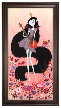 Brigette Barrager - Artwork - Marceline, Vampire Queen - Nucleus | Art Gallery and Store