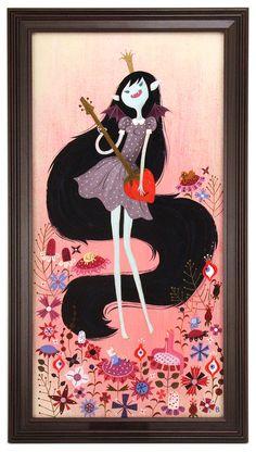 Brigette Barrager - Artwork - Marceline, Vampire Queen - Nucleus | Art Gallery and Store