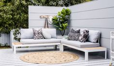 It feels wonderful having a beautiful patio or backyard garden, but you still need some privacy on your own home. That's why it's necessary to have an outdoor privacy screen. Outdoor Rooms, Outdoor Sofa, Outdoor Living, Outdoor Furniture Sets, Outdoor Decor, Outdoor Areas, Porches, Fresco, Three Birds Renovations
