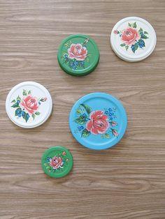 decorated jar lids