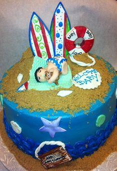 Surfs Up Baby Shower Cake by Elisa Gismondi Tufano