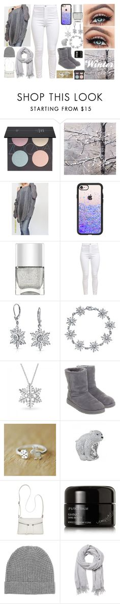 """""""Winter #2"""" by evil-master-mind ❤ liked on Polyvore featuring ZOEVA, Casetify, Nails Inc., Bling Jewelry, UGG, Bueno, Kahina Giving Beauty, Madeleine Thompson and Witchery"""
