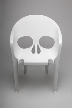 Skull Plastic chair #ink #inked #tattoo #tattoos #tattooed #tats #tatted #rebel #rebelcircus   See more at www.facebook.com/therebelcircus !
