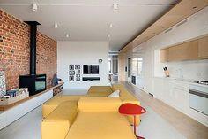 Ladrillo visto en interiores: cocina abierta al salón