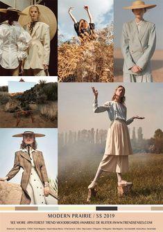 trendsenses moodboard modern prairie spring summer trendsenses com Colorful Fashion, Trendy Fashion, Latest Fashion, Womens Fashion, Young Fashion, Fashion 2018 Trends, Fashion 2017, Fashion Dresses, Spring Fashion Trends