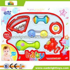 Colorful plastic baby bell rattle  Funny baby rattle  Eco-friendly material  Reasonable price