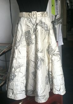 Vintage 1950s Quilted Circle Skirt with by ReuttersGeneralStore, $55.00