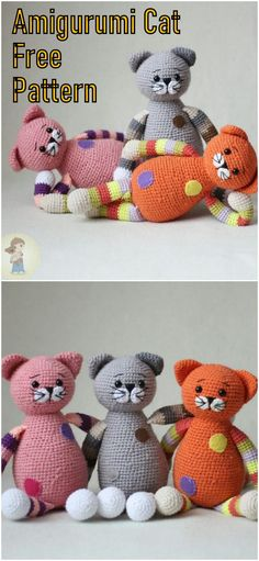 In this article we will share the amigurumi chubby cats free crochet pattern. : In this article we will share the amigurumi chubby cats free crochet pattern. Amigurumi related to everything you can not find and share with you. Easy Crochet Patterns, Crochet Patterns Amigurumi, Crochet Dolls, Crochet Yarn, Chat Crochet, Free Crochet, Crochet Teddy Bear Pattern, Crochet Snowman, Crochet Projects