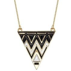 House of Harlow tribal triangle necklace