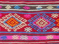 Vintage Turkish Area Rug Kilim Carpet Cicim Embroidered Decorative 59 8 X 92 5