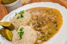 Bravčové pliecko na znojemský spôsob | Masodomov.sk Palak Paneer, Family Meals, Thai Red Curry, Food And Drink, Cooking Recipes, Homemade, Snacks, Ethnic Recipes, Anna
