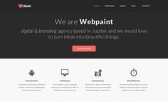 Webpaint Free Homepage PSD