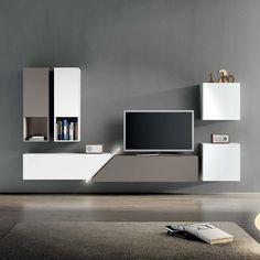 TV Unit Kube I by Santarossa. #contemporaryfurniture #livingroominterior #homeinterior #moderndesign