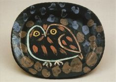 Plate with Owl , 1949 - Pablo Picasso,  Musée Picasso, Antibes