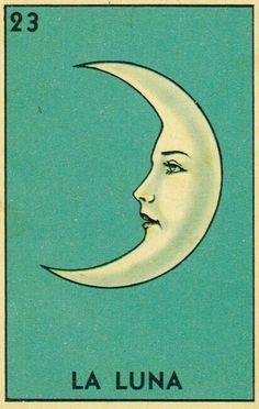 classic vintage tarot....the moon