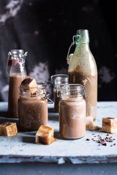Chocolate Almond Milk with Creamy Malted Coffee Ice Cubes   halfbakedharvest.com @hbharvest