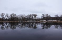 "Check out my art piece ""When Winter Meets Spring"" on crated.com - Guelph Ontariio Canada #art #photography #spring #pond #water"
