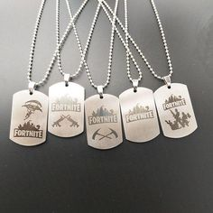 Hot&Classic FPS Game Fortnite Logo Necklace Stainless Steel Pendant Laser Print Personalized Jewelry Do not fade 5 Style 9th Birthday Parties, Birthday Party Decorations, Boy Birthday, Birthday Ideas, Dog Tag Necklace, Beaded Necklace, Pendant Necklace, Pendant Jewelry, Jewelry Necklaces