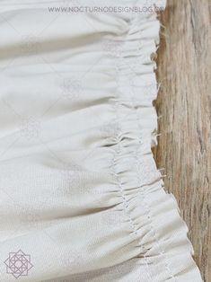 Costura paso a paso: Cómo fruncir tela fácilmente. – Nocturno Design Blog Design Blog, Sewing, Crochet, Manga, Diy, Tela, Scrappy Quilts, Sewing Hacks, Beginner Sewing Projects