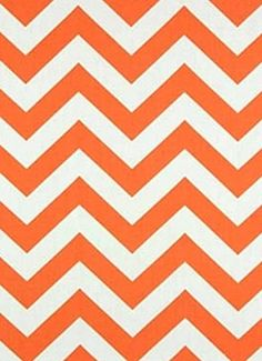 "OD Chevron Orange.  Chevron fabric for outdoor pillows, seat cushions, upholstery or drapery panels. 100% poly treated to resist mildew and fading for up to 500 direct sunlight hours. Made in U.S.A. 54"" wide."