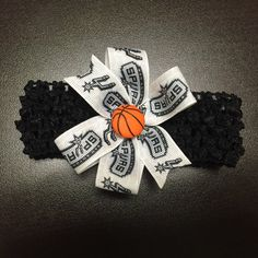 NBA San Antonio Spurs Croshet Headband with by ByChinchie on Etsy