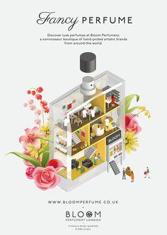 Bloom Perfumery - Jing Zhang illustration #isometric