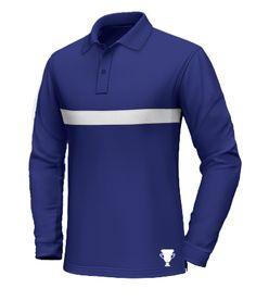 Custom Polo Shirts, Tee Shirts, Men's Wardrobe, Long Sleeve Polo, Shirt Designs, Blues, Menswear, Men's Polo, Street Style