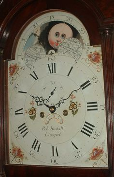 grandfather clock face moon. rolling mooon grandfather clock by robert roskell of liverpool painted dial figured mahogany case grandfather clock face moon
