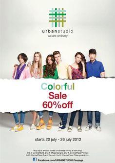 Urban Studio Colorful Sale 60% Off