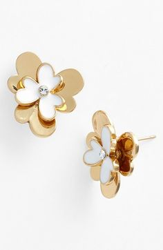 kate spade new york 'pansy blossoms' stud earrings available at #Nordstrom