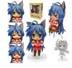 "Anime Lucky Star Nendoroid 27 Konata Izumi 4"" Figure Face Chageable New in Box | eBay"