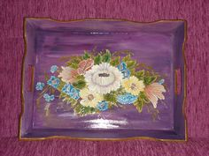 hand painting tray